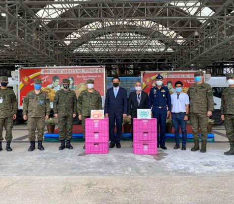 The Armed Forces of the Philippines received 5,000 dressed chicken